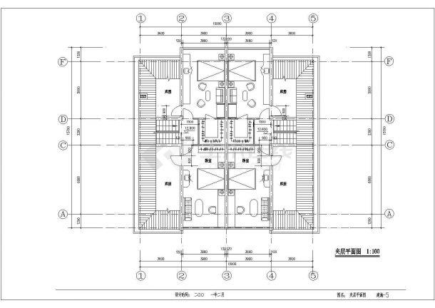河南省邓州市市区某某5层私宅建筑全套施工设计CAD图纸-图一
