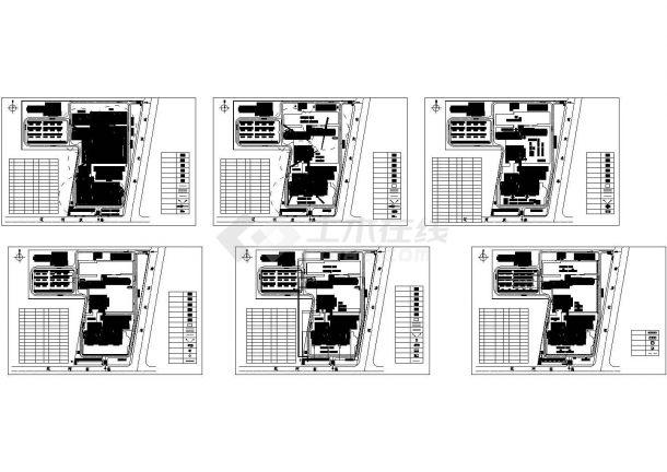 江苏某医院工程投标施工cad图纸设计(600余页组拼式大模板单元式幕墙)-图一
