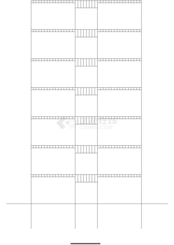 办公楼设计_某八层框架办公楼设计-图一