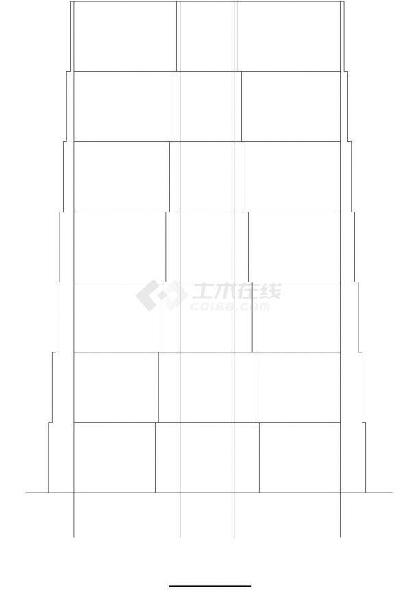 办公楼设计_某八层框架办公楼设计-图二
