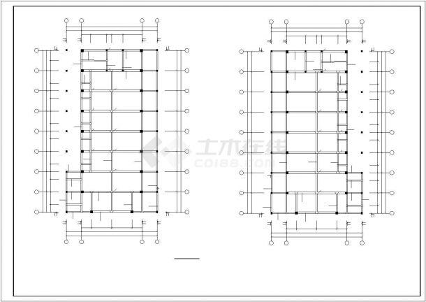 旅顺市某市政单位3层框架结构办公楼全套结构设计CAD图纸-图一
