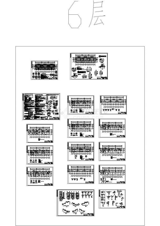 安徽6层普通住宅结构图(含结构设计总说明)-图一