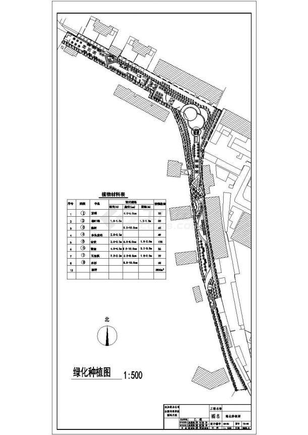 某社区公园景观绿化规划设计cad全套施工图-图二