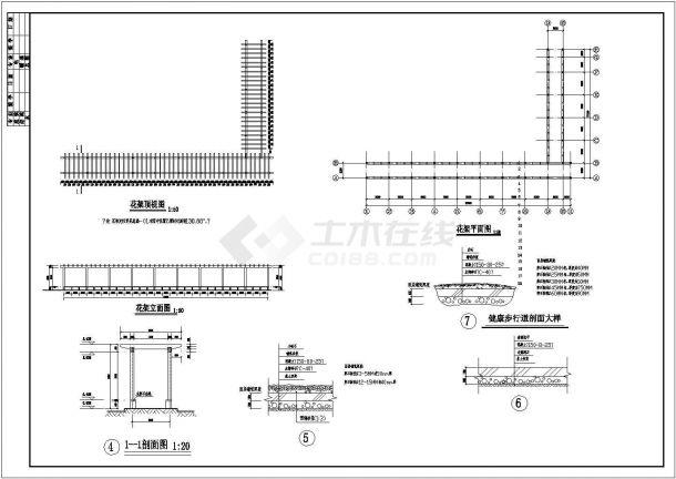 沈阳海德公园绿化规划设计cad全套施工图(标注详细)-图二