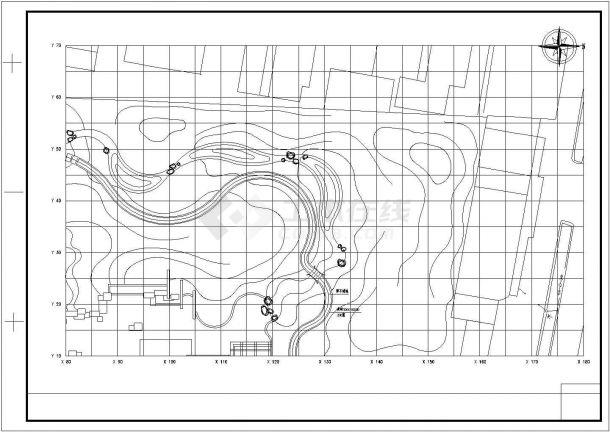 某小游园景观绿化规划设计cad总平面施工图-图一