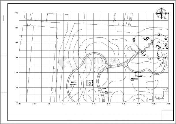 某小游园景观绿化规划设计cad总平面施工图-图二