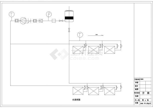 工厂办公楼全套暖通设计施工图-图一