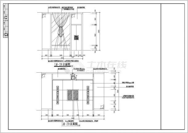 某高档餐厅装饰施工CAD图-图二