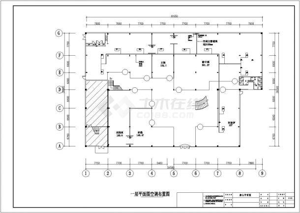 某陶瓷专卖店室内装修设计CAD详细施工图纸-图二