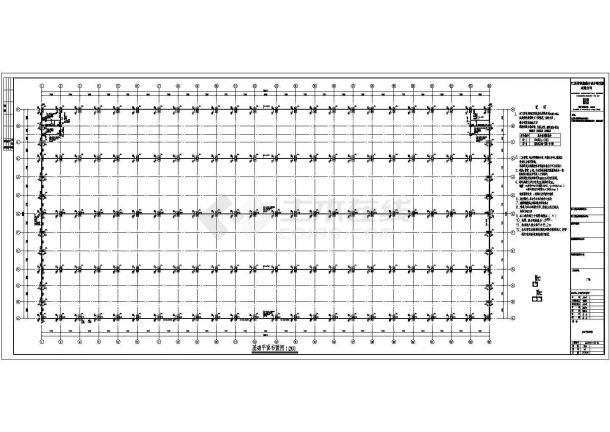 钢结构设计_某公司钢结构工程厂房CAD图-图一