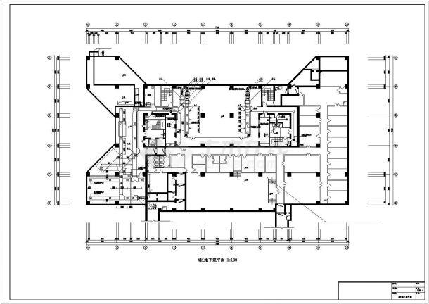 【最新】某综合楼空调和通风防排烟系统设计CAD图纸-图一