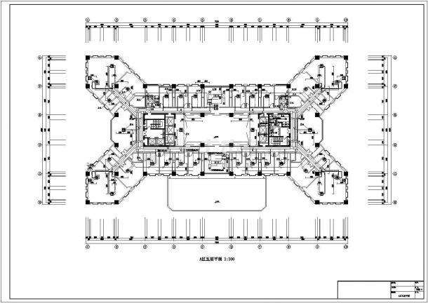 【最新】某综合楼空调和通风防排烟系统设计CAD图纸-图二