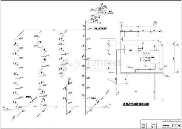 长52.5米宽24.1米-1+7层医院综合楼给排水施工图(含设计说明)-图一