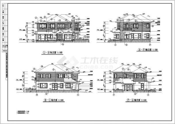 某县独栋豪华别墅建筑设计图-图二