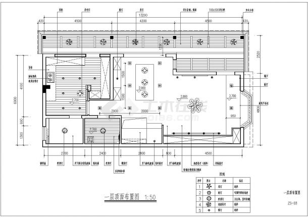 260平米2层高档单体别墅全套室内装修设计CAD图纸-图二