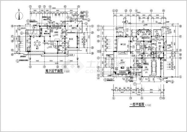 某市多套高档别墅建筑设计参考图-图一