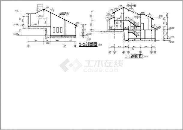 某市多套高档别墅建筑设计参考图-图二