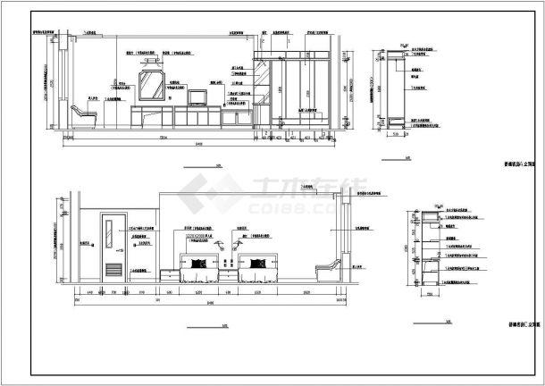 某地四层宾馆设计cad施工图纸-图一