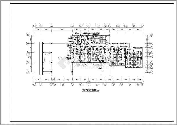 某地四层宾馆设计cad施工图纸-图二