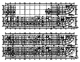 某市六层钢筋混凝土框架结构小区住宅楼结构施工cad图纸-图二