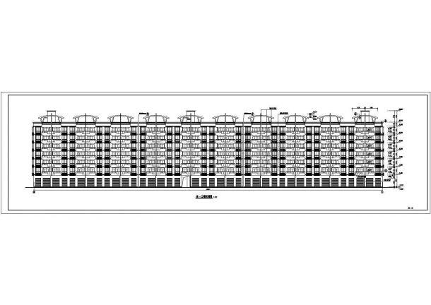 深圳市某新农村钢筋混凝土结构住宅楼方案设计CAD图(含构造法、建筑设计说明)-图二
