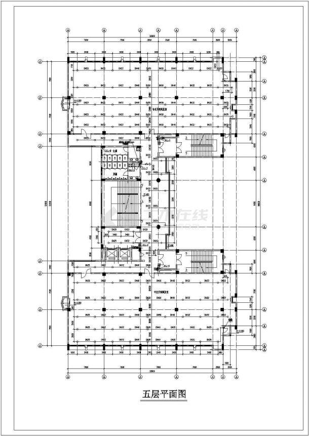 某地高层办公楼给排水全套cad设计施工图-图一