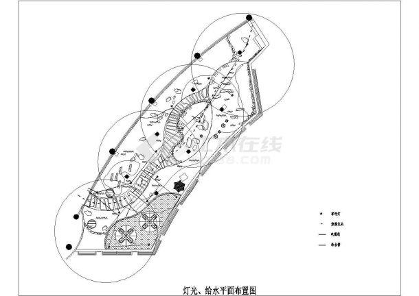 上海某会所屋顶景观绿化全套设计图纸-图二