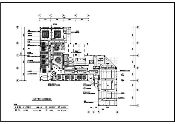 某地酒店室内装修设计cad施工图-图二