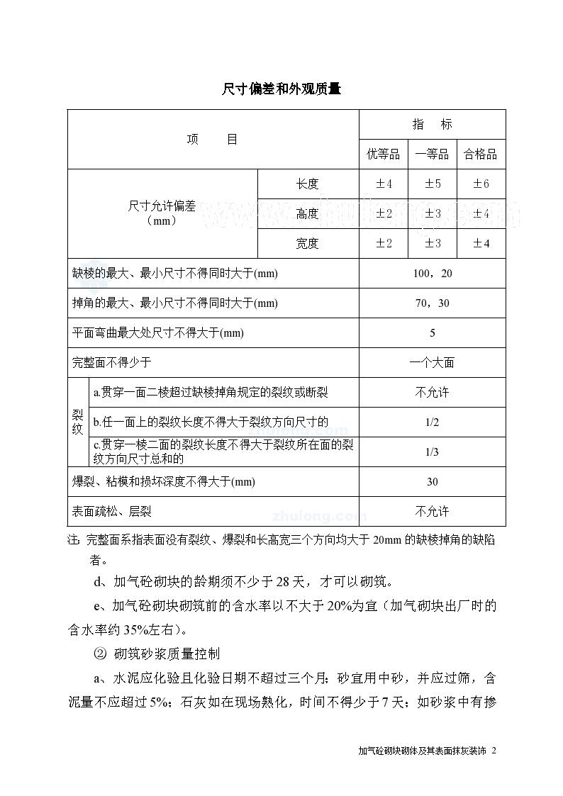 广东加气混凝土砌体质量控制监理要点-图二