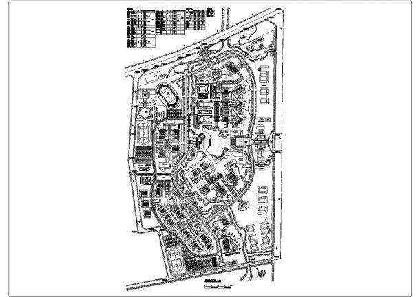 某地大学建筑规划总平面图纸-图一