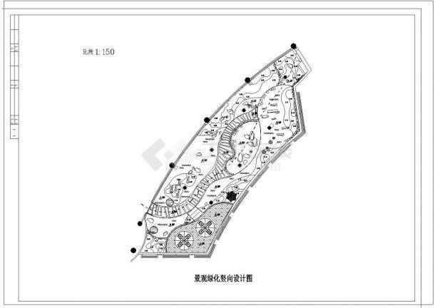 上海某会所屋顶景观绿化平面图 方格网定位图 景观绿化竖向设计图 灯光及给水平面布置图 2剖面 苗木表 设计说明 屋顶承重预算-图一