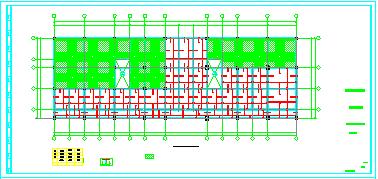 办公车车库综合楼cad框架结构设计施工图-图一