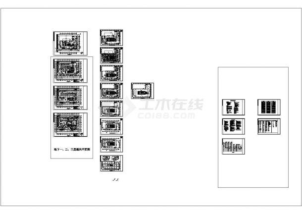 [广东]高层科技办公楼空调通风及防排烟系统设计施工图(多联机系统)-图二