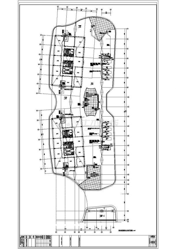 某地高层办公楼全套电气设计cad施工图纸-图二