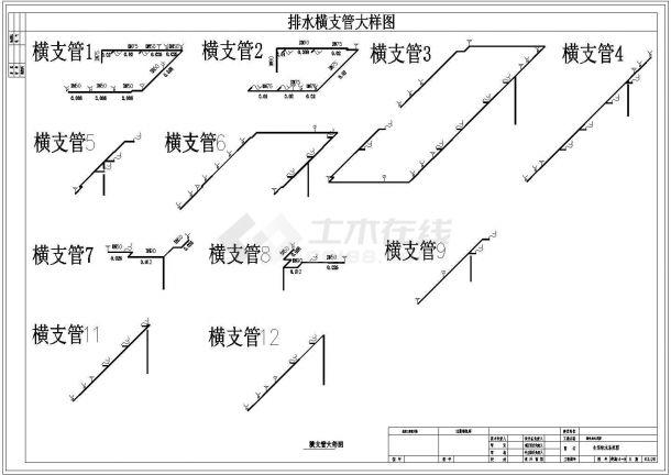某机关高层办公楼给排水设计cad施工图纸-图二