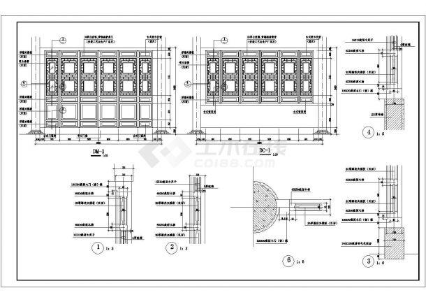 杉湖岛钢筋混凝土结构七层塔设计cad全套建施图(含设计说明)-图二
