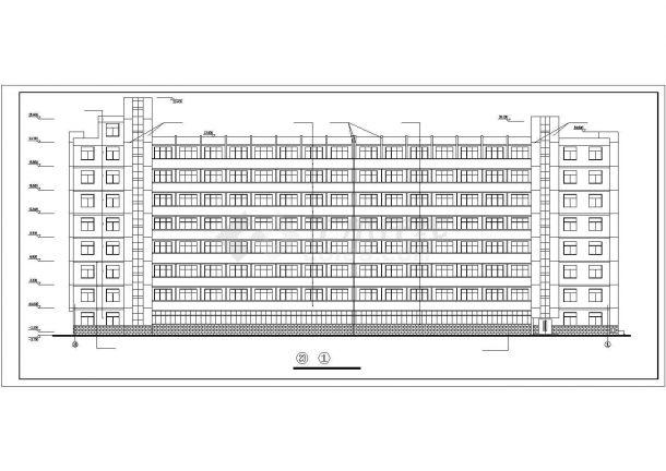 甘肃农业大学学生公寓bob电竞app设计图纸_公寓设计-图一