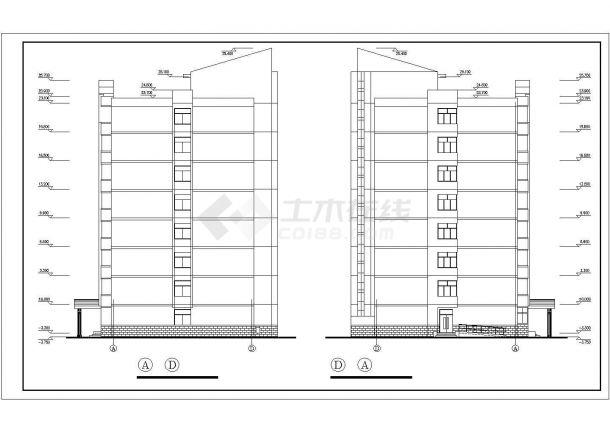 甘肃农业大学学生公寓bob电竞app设计图纸_公寓设计-图二