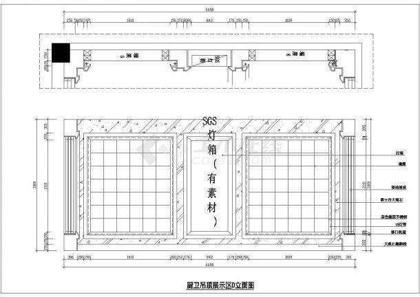 某地品质吊顶生活馆建筑设计CAD施工图-图一