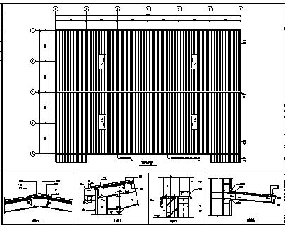厂房设计_某市单层钢结构泉港厂房工程施工cad图纸-图一