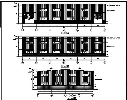 厂房设计_某市单层钢结构泉港厂房工程施工cad图纸-图二