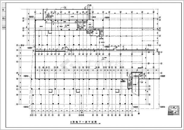 南方某高层住宅小区全建筑施工设计cad图(B栋)-图一