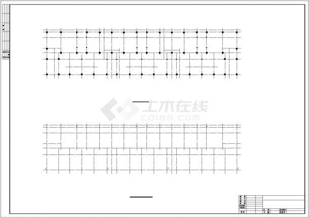 某企业家属院6层框混结构住宅楼建筑结构CAD设计图纸-图二