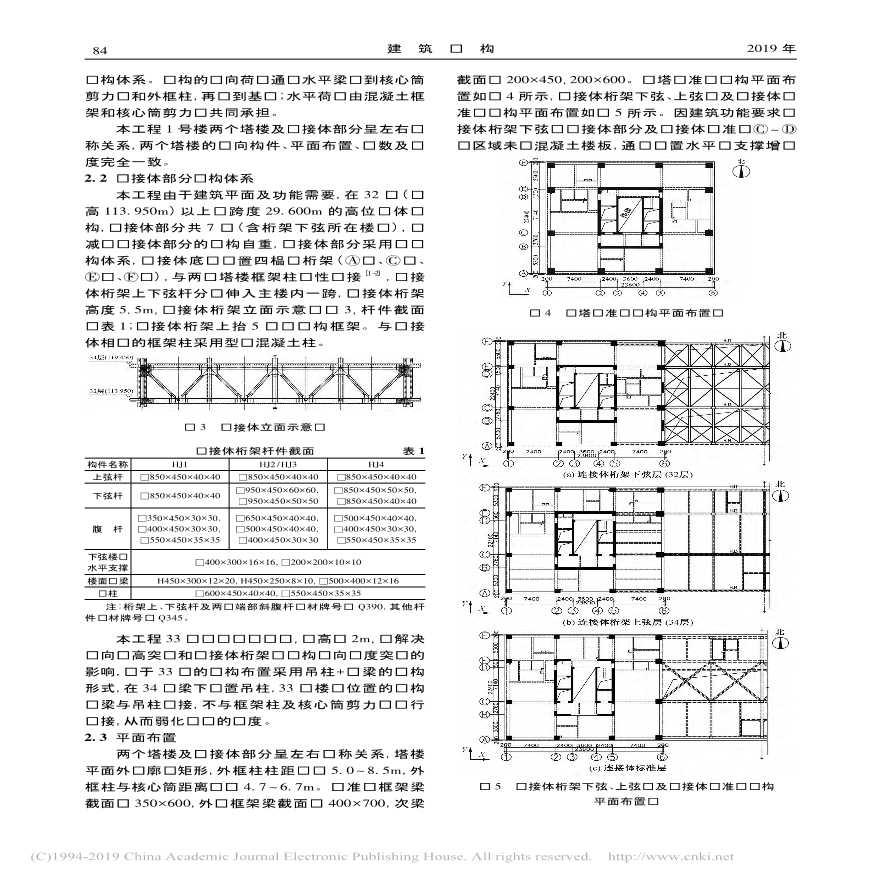 某高位大跨连体超限高层建筑结构设计-图二
