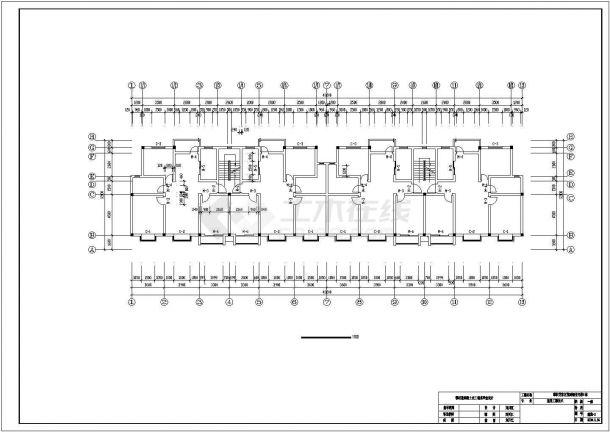 攀枝花市某小区5200平米五层砖混结构住宅楼全套建筑设计CAD图纸-图一