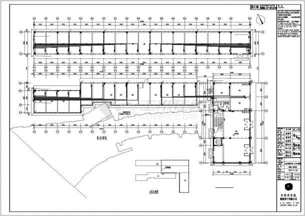 某小区20号附属楼全套电气施工设计cad图纸-图一