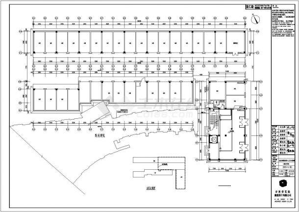 某小区20号附属楼全套电气施工设计cad图纸-图二