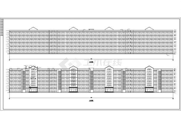 某地学生公寓建筑方案CAD设计图纸-图一