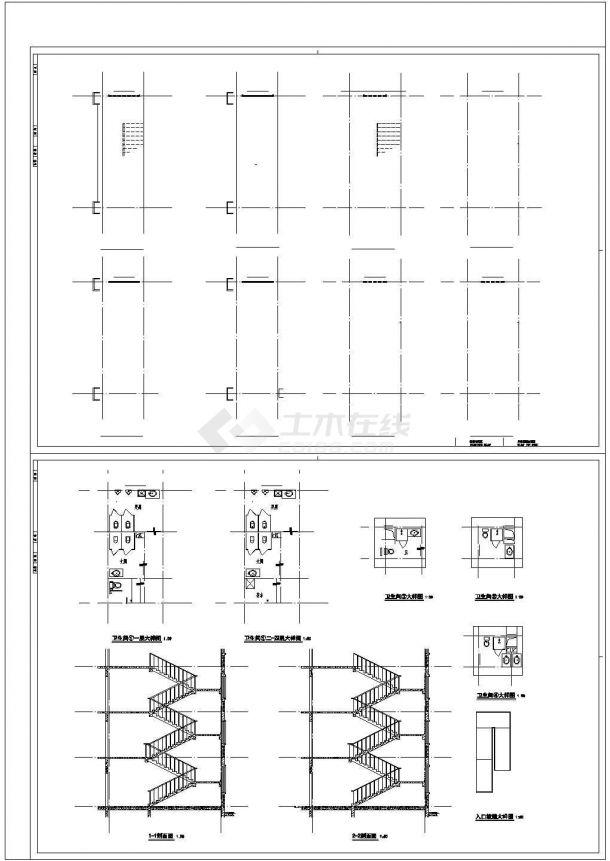 某住宅小区社区医院电气设计cad全套施工图纸62张(含设计说明,含建筑设计,含结构设计,含给排水设计)-图二