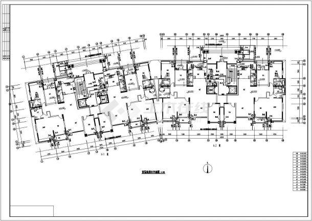 镇江市玉峰花园小区五栋高层住宅楼全套给排水设计CAD图纸-图一